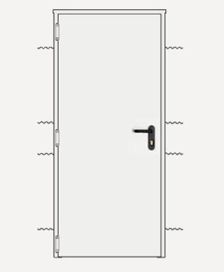 Precio en espa a de ud de puerta cortafuegos de acero for Puertas de paso metalicas