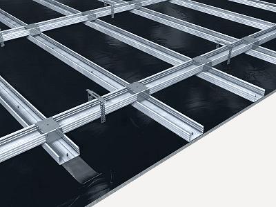 Precio en espa a de m de falso techo continuo antirradiaciones sistema knauf generador de - Falso techo metalico ...