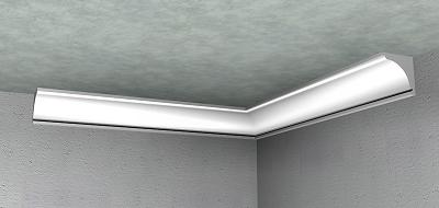 Precio en espa a de ud de ngulo de escayola para moldura para soluci n perimetral de techo - Cornisa para led ...