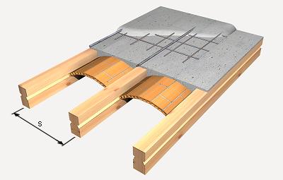 Precio en espa a de m de forjado de viguetas de madera entrevigado con revolt n generador de - Forjados de madera laminada ...