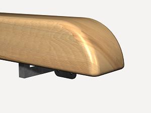 Precio pasamanos de madera materiales de construcci n - Pasamano de madera ...