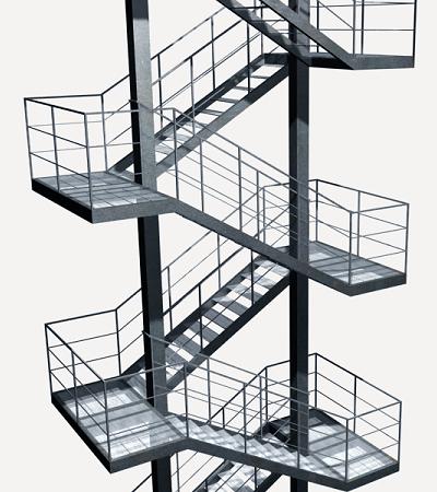Escalera Metalica Generador De Precios Materiales De