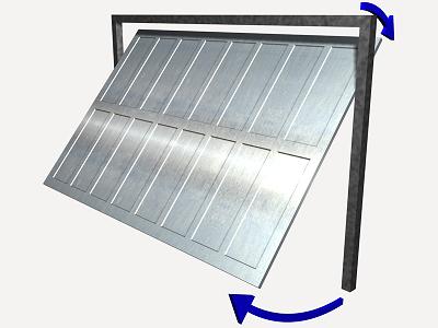 Precio en espa a de ud de puerta basculante para garaje - Puerta de acero galvanizado ...