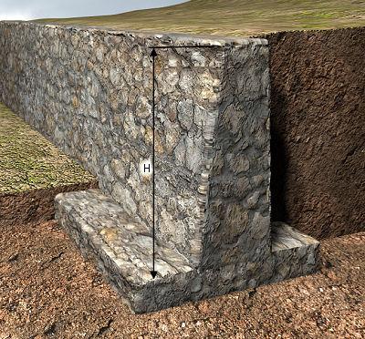 Precio en espa a de m de muro de contenci n de hormig n - Muros de contencion de piedra ...