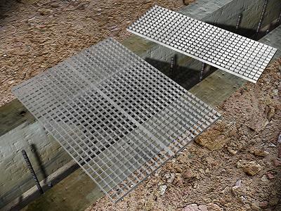 Rejilla peatonal acero galvanizado